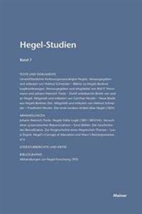 Hegel-Studien / Hegel-Studien Band 7 (1972)