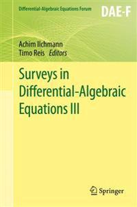 Surveys in Differential-Algebraic Equations III