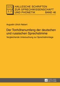 Der Tonhoehenumfang der deutschen und russischen Sprechstimme