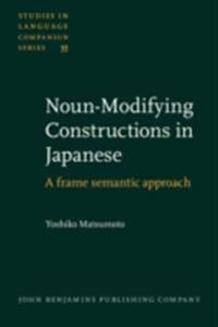 Noun-Modifying Constructions in Japanese