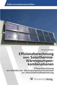 Effizienzberechnung Von Solarthermie- Warmepumpenkombinationen