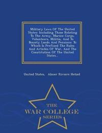 Military Laws of the United States