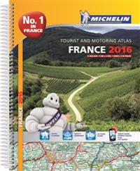 Frankrike 2016 Atlas Michelin A4 : 1:200000