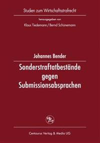 Sonderstraftatbestände Gegen Submissionsabsprachen