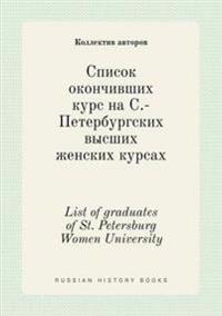 List of Graduates of St. Petersburg Women University