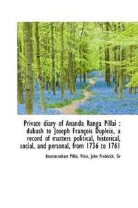 Private Diary of Ananda Ranga Pillai