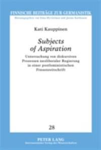 Subjects of Aspiration