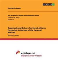 Organizational Drivers for Social Alliance Formation in Bottom of the Pyramid Markets