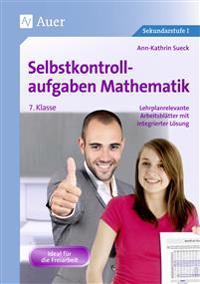 Selbstkontrollaufgaben Mathematik Klasse 7