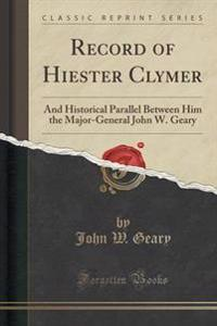 Record of Hiester Clymer
