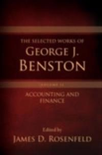 Selected Works of George J. Benston, Volume 1 Banking and Financial Services