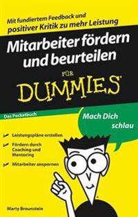 Mitarbeiter f rdern und beurteilen f r Dummies Das Pocketbuch