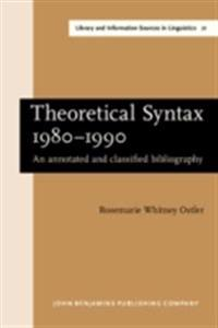 Theoretical Syntax 1980-1990