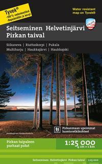 Seitseminen-Helvetinjärvi-Pirkan taival retkeilykartta, 1:25 000
