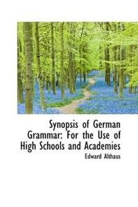 Synopsis of German Grammar