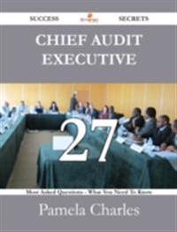 Chief Audit Executive 27 Success Secrets - 27 Most Asked Questions On Chief Audit Executive - What You Need To Know