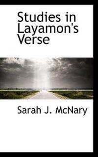 Studies in Layamon's Verse