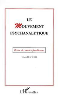 Mouvement psychanalytique vol.3 no. 1