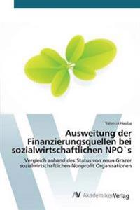 Ausweitung Der Finanzierungsquellen Bei Sozialwirtschaftlichen Npos