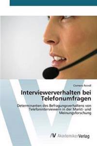 Interviewerverhalten Bei Telefonumfragen