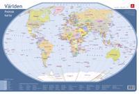 Världen - Skrivbordsunderlägg med politisk världskarta