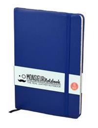 Monsieur Notebook Soft Leather Journal - Royal Blue Ruled Medium