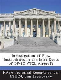 Investigation of Flow Instabilities in the Inlet Ducts of DP-1c Vtol Aircraft