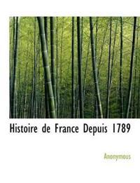 Histoire de France Depuis 1789