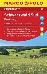 MARCO POLO Freizeitkarte 40 Schwarzwald Süd, Freiburg 1 : 100 000