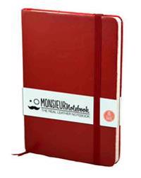 Monsieur Notebook Soft Leather Journal - Ruby Red Ruled Medium