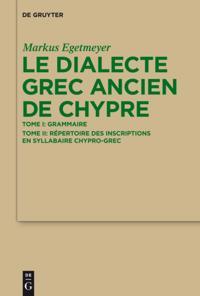 Le dialecte grec ancien de Chypre
