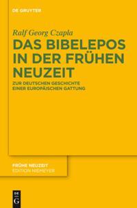 Das Bibelepos in der Fruhen Neuzeit