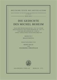 Die Gedichte DES Michel Beheim
