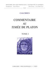 Commentaire Au Timee de Platon
