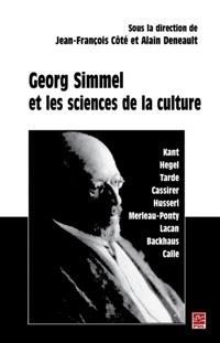 Georg Simmel et les sciences de culture