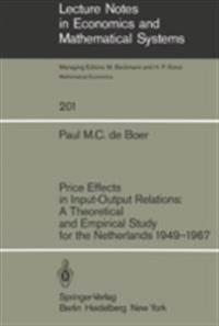 Price Effects in Input-Output Relations: A Theoretical and Empirical Study for the Netherlands 1949-1967