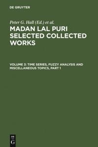 Time Series, Fuzzy Analysis and Miscellaneous Topics