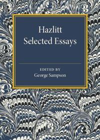 Hazlitt: Selected Essays