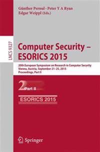 Computer Security -- ESORICS 2015