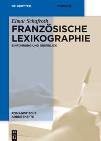 Franzosische Lexikographie