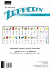 Zeppelin 1-4. Alfabetremser. Løkkeskrift/Lykkjeskrift. Farger. Norsk for barnetrinnet