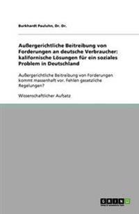 Auergerichtliche Beitreibung Von Forderungen an Deutsche Verbraucher