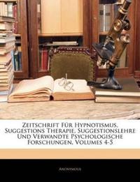 Zeitschrift für Hypnotismus, suggestionslehre und verwandte psychologische Forschungen, Actundzwanszigster Band