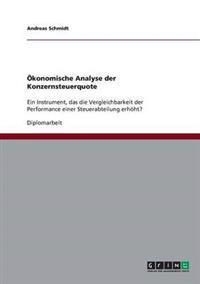 Okonomische Analyse Der Konzernsteuerquote