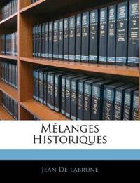 Mélanges Historiques