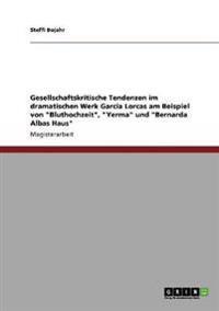 """Das Dramatische Werk Garcia Lorcas. Gesellschaftskritische Tendenzen in """"Bluthochzeit,"""" """"Yerma"""" Und """"Bernarda Albas Haus"""""""