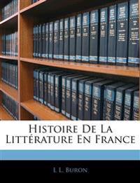 Histoire De La Littérature En France