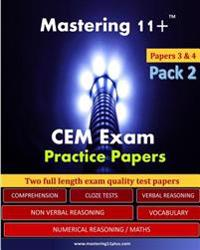 Mastering 11+: Cem Practice Papers - Pack 2