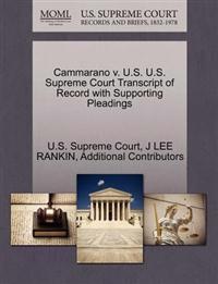 Cammarano V. U.S. U.S. Supreme Court Transcript of Record with Supporting Pleadings