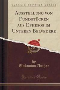 Ausstellung Von Fundstucken Aus Ephesos Im Unteren Belvedere (Classic Reprint)